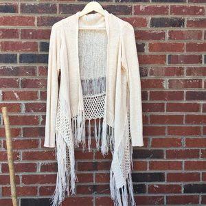 Festival Knit Fringe And Tassel Cardigan
